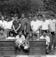 Students Work with furniture