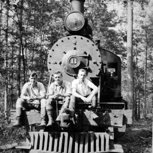 George K. Slocum, Walt Smith, and Fritz Hube, Class of 1934, on train