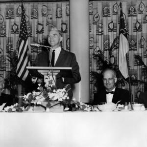 John Caldwell speaking at luncheon