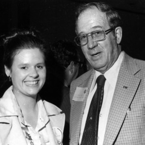 Kathleen T. Glynquist and man at Technical Association of the Pulp and Paper Industry meeting