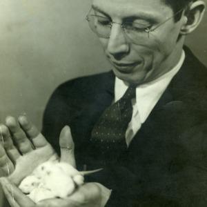 Dr. Key L. Barkley with mice