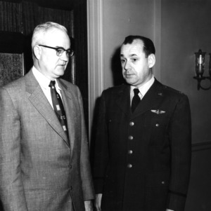 Carey H. Bostian with Air Force member