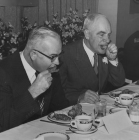 Chancellor Carey Hoyt Bostian and Governor Luther H. Hodges at banquet