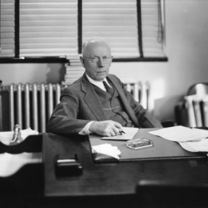 Benjamin F. Brown at desk