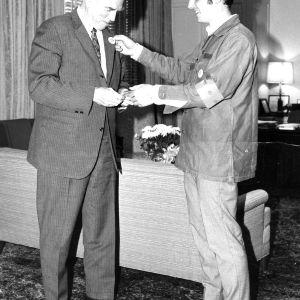 John Caldwell and student