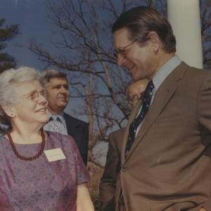 Gertrude Cox and Elliott Richardson