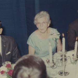 Gertrude Cox at banquet