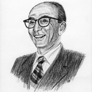 Ernest E. Durham drawn portrait
