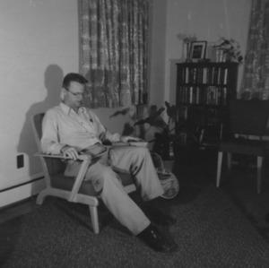 Gerald O. T. Erdahl in chair