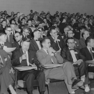 Ralph E. Fadum, Rudolph Pate, and others in classroom