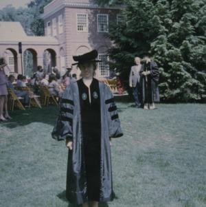 Marye Ann Fox at graduation ceremony