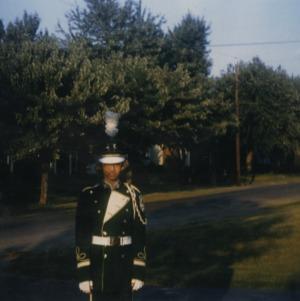 Marye Ann Fox in marching band uniform