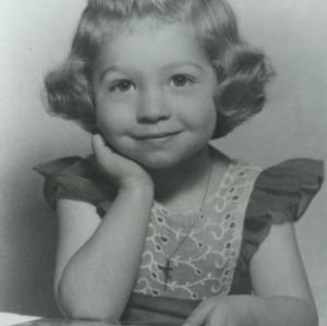 Portrait of Marye Ann Fox as a child