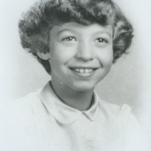 Portrait of Marye Ann Fox as a young girl