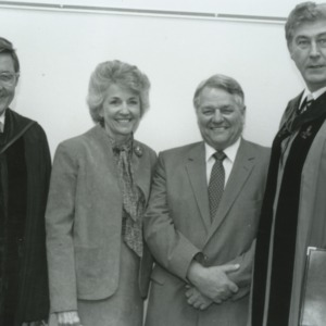 William C. Friday, Bruce R. Poulton, and others at Poulton's installation