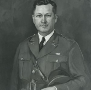 John W. Harrelson portrait painting