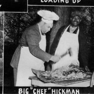 Herman Hickman and other preparing food