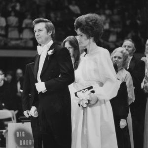 Governor James B. Hunt and wife at Inaugural Ball