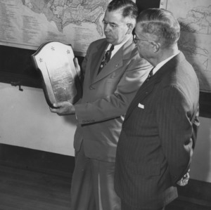 Frank H. Jeter and other examining plaque