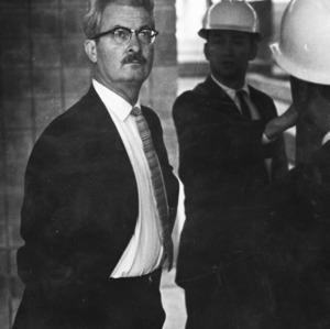 Henry L. Kamphoefner and others in work zone