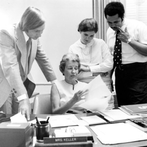 Anna Keller and others in her office
