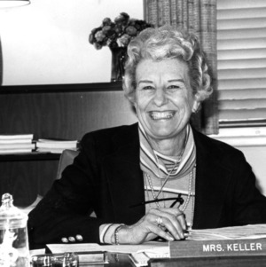Mrs. Anna Keller at desk
