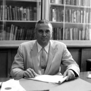 Dr. Arthur C. Menius in his office