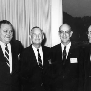 C. S. Mitchell, Henry Craven, Marshall T. Fairchild, and Kirby Crenshaw at event