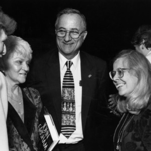 Larry Monteith with wife, Susan Nutter, and others at event