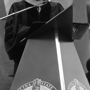 Larry Monteith at graduation ceremony