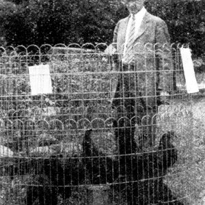 A. G. Oliver with chickens