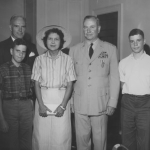 Robert C. Paul and family with Chancellor John T. Caldwell