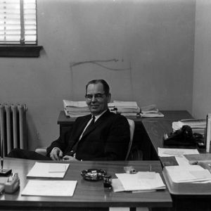 Dean Walter J. Peterson in office