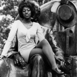 Mary Porterfield, Miss Wolfpack 1971, on statue