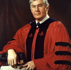 Dr. Bruce Poulton painted portrait