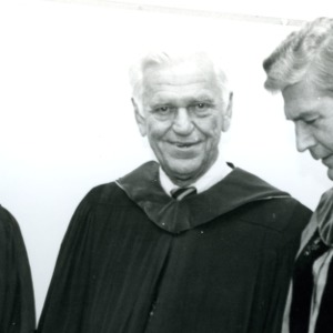William C. Friday, Bruce R. Poulton, and other at Poulton's Installation Ceremony