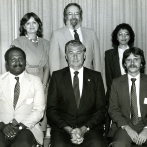 Group portrait of Bruce R. Poulton and others