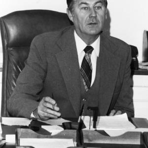 Chancellor Bruce R. Poulton in office