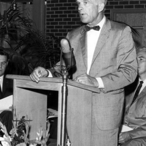 Dean Richard J. Preston giving speech
