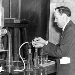 Dr. E. E. Randolph in lab