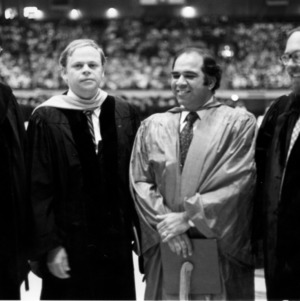 Ronald D. Simpson and others at graduation ceremony