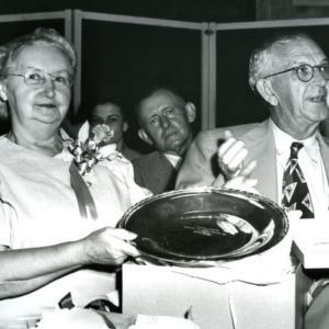 I. O. Schaub and Mrs. Maud Schaub others at event