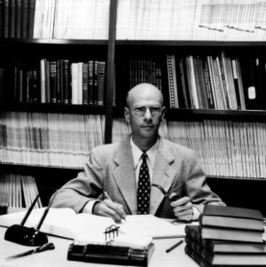 Dr. Ed Schoenborn at desk