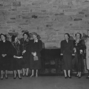Group of women, including Mrs. Elizabeth Scott