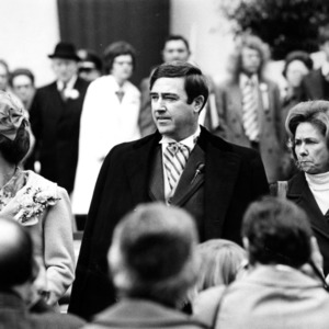 Robert Scott and Jesse Rae Scott during his campaign for NC governor