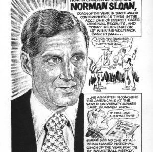 Cartoon biography of Coach Norman Sloan