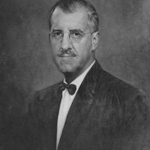 Professor G. K. Slocum painted portrait