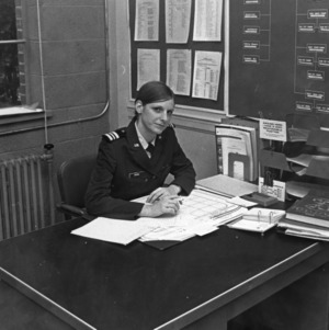 Air Force ROTC group commander Evelyn Spence in office