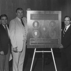 Unveiling of plaque for McKimmon Center's Chancellor Room