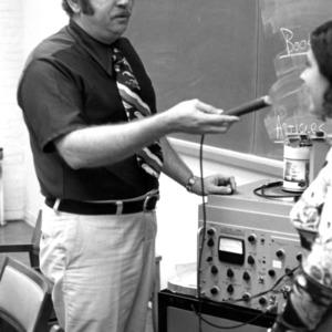 Professor with Machine